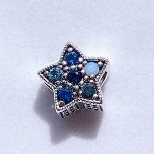 Pandora Blue Pentagram Wish Charm